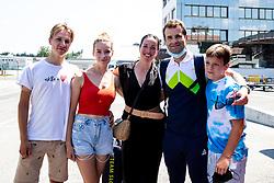 Andrej Hauptman with his family at reception of Primoz Roglic, Olympic gold medalist during his arrival from Tokyo 2020 on July 30, 2021 in Airport Joze Pucnik, Brnik, Ljubljana, Slovenia. Photo by Matic Klansek Velej / Sportida
