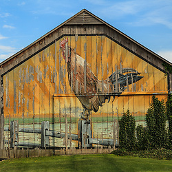 A painted barn in Lancaster County, Pennsylvania.