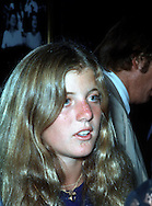 .Caroline Kennedy at the RFK Celebrity Tennis Tournament at Forest Hill in August 1973....Photo by Dennis Brack  B 10