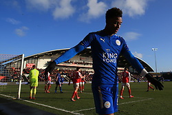 6th January 2018 - FA Cup - 3rd Round - Fleetwood Town v Leicester City - Demarai Gray of Leicester looks dejected - Photo: Simon Stacpoole / Offside.