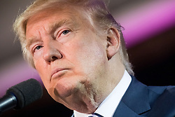 October 28, 2016 - Manchester, New Hampshire, U.S. - DONALD TRUMP, the republican candidate for president of the United States, addresses supporters during a campaign stop at the Armory Ballroom in the Radisson Hotel. (Credit Image: © Bryce Vickmark via ZUMA Wire)