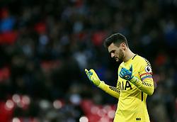 Tottenham Hotspur goalkeeper Hugo Lloris appears dejected