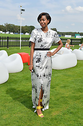 TOLULA ADEYEMI at the Audi International Polo at Guards Polo Club, Windsor Great Park, Egham, Surrey on 26th July 2014.