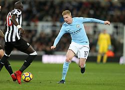 27 December 2017 Newcastle: Premier League Football - Newcastle United v Manchester City : Kevin De Bruyne of Man City.<br /> (photo by Mark Leech)