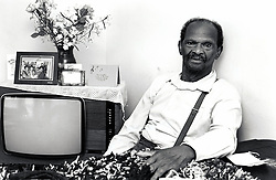 Portrait of an elderly man, Nottingham, UK 1990