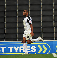 Milton Keynes Dons/Walsall Coca Cola League one  10.10.09 <br /> Photo: Tim Parker Fotosports International<br /> Jermaine Easter MK Dons celebrates 1st goal