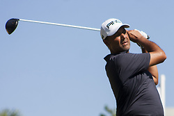 February 3, 2018 - Shah Alam, Kuala Lumpur, Malaysia - Arjun Atwal is seen taking a shot from hole no 3 on day 3 at the Maybank Championship 2018...The Maybank Championship 2018 golf event is being hosted on 1st to 4th February at Saujana Golf & Country Club. (Credit Image: © Faris Hadziq/SOPA via ZUMA Wire)