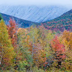 Fall in New Hampshire's White Mountain National Forest. Jefferson, New Hampshire.