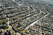 Nederland, Noord-Holland, Amsterdam, 09-04-2014; <br /> Linksbeneden: Westertoren, Westermarkt, Raadhuisstraat.<br /> Binnenstad en grachtengordel (van beneden naar boven Prinsengracht, Keizersgracht, Herengracht, Singel). <br /> Center and ring of canals of Amsterdam. <br /> The Westerkerk (church)  bottom left.<br /> luchtfoto (toeslag op standard tarieven);<br /> aerial photo (additional fee required);<br /> copyright foto/photo Siebe Swart