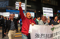 December 18, 2018 - Hong Kong, CHINA - Pro-China demonstrators march to the Canadian Consulate General in Central calling for immediate releasing of Meng Wanzhou.Dec-18,2018 Hong Kong.ZUMA/Liau Chung-ren (Credit Image: © Liau Chung-ren/ZUMA Wire)
