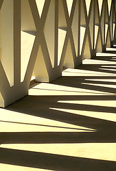 Architectural Detail of Outdoor Walkway in Sunlight