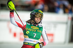 Katharina Liensberger (AUT) during second run at the Ladies' Slalom at 56th Golden Fox event at Audi FIS Ski World Cup 2019/20, on February 16, 2020 in Podkoren, Kranjska Gora, Slovenia. Photo by Matic Ritonja / Sportida