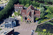 Luchtfoto WaterCampus,  Wetsus, Water Alliance, Van Hall Larenstein, Friese Milieu Federatie, CEW en Bentacera