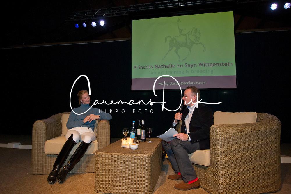 About training and breeding with Nathalie zu Sayn Wittgenstein<br /> Global Dressage Forum<br /> Academy Bartels - Hooge Mierden 2011<br /> © Dirk Caremans