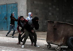 February 6, 2018 - Palestinian youths clash with Israeli Security forces in the West Bank town of al-Yamun, west of Jenin. The clashes followed an Israeli raid in the town during which Palestinian Ahmed Nasser Jarrer was killed by the Israeli forces as suspected of the murder of Rabbi Raziel Shevach, a resident of the Havad Gilad Israeli settlement in the West Bank (Credit Image: © Mohammed Turabi/ImagesLive via ZUMA Wire)