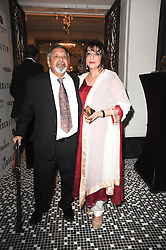 SIR V S & LADY NAIPAUL at the Liberatum Dinner hosted by Ella Krasner and Pablo Ganguli in honour of Sir V S Naipaul at The Landau at The Langham, Portland Place, London on 23rd November 2010.