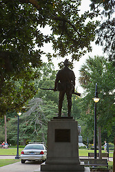 solider statue and police car at the State Capital in Columbia, South Carolina