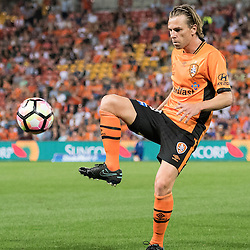 BRISBANE, AUSTRALIA - OCTOBER 7: Brett Holman of the Roar controls the ball during the round 1 Hyundai A-League match between the Brisbane Roar and Melbourne Victory at Suncorp Stadium on October 7, 2016 in Brisbane, Australia. (Photo by Patrick Kearney/Brisbane Roar)