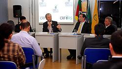 José Fortunati durante encontro no Conselho Regional de Farmácia, em Porto Alegre. FOTO: Jefferson Bernardes / Preview.com