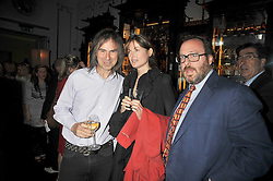 Left to right, IVOR BRAKA, INDIA JANE BIRLEY and ADAM BRAY at a party to celebrate the publication of Stephanie Theobold's book 'A Partial Indulgence' held at the Langham Hotel, Portland Place, London on 21st April 2009.