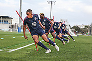 USA Mens National Team runs drills during training camp, Friday, Jan. 10, 2020, in Bradenton, Fla. (Kim Hukari/Image of Sport)