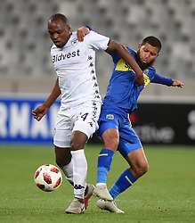Cape Town-181002- Cape Town City Reyaad Norodien  challenges Gift Motupa  of Bidvest Wits in a PSL clash at Cape Town Stadium.Cape town City come to this game with high confidence after winning the MTN 8 cup over the weekend,while Wits will be fighting for the the top spot they have lost after some poor display in their last two games.Photographs:Phando Jikelo/African News Agency/ANA