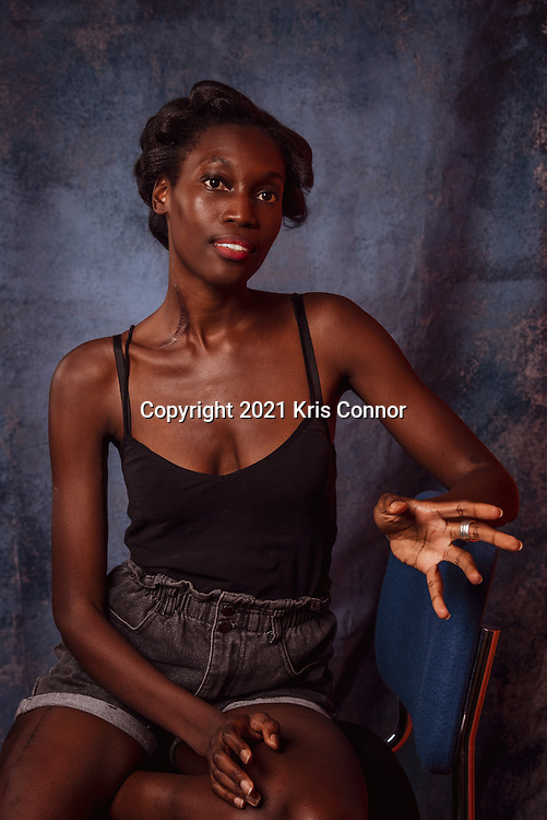 Singer Songwriter, Producer and Actress Julia Kwamya poses for a portrait in New York City on June 22nd, 2021. Photo by Kris Connor