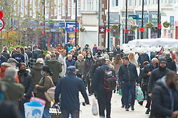 © Licensed to London News Pictures. 02/11/2020.  <br /> Bromley, UK. A crowded Bromley High Street. After the second lockdown announcement by Prime Minister Boris Johnson at the weekend the number of Christmas shopping days has been halved. Shoppers flock to Bromley High Street in South East London today to by gifts. Photo credit:Grant Falvey/LNP
