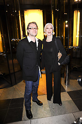 CARMEN DELL'OREFICE and DAVID DOWNTON at the London College of Fashion Show held at the Victoria & Albert Museum, Cromwell Road, London on 28th January 2010.