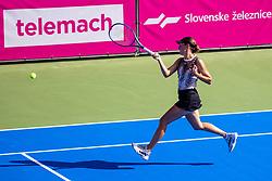 PORTOROZ, SLOVENIA - SEPTEMBER 17: Kaja Juvan of Slovenia competes during the 3rd Round of WTA 250 Zavarovalnica Sava Portoroz at SRC Marina, on September 17, 2021 in Portoroz / Portorose, Slovenia. Photo by Matic Klansek Velej / Sportida