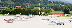 THEMENBILD - Klienflugzeuge am Flughafen Innsbruck, Österreich, aufgenommen am 09.07.2015 // private planes at Innsbruck Airport, Austria on 2015/07/09. EXPA Pictures © 2015, PhotoCredit: EXPA/ Jakob Gruber