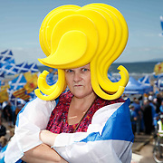 AUOB Independence march in Ayr.<br /> <br /> Picture Robert Perry  6th July 2019<br /> <br /> Must credit photo to Robert Perry<br /> FEE PAYABLE FOR REPRO USE<br /> FEE PAYABLE FOR ALL INTERNET USE<br /> www.robertperry.co.uk<br /> NB -This image is not to be distributed without the prior consent of the copyright holder.<br /> in using this image you agree to abide by terms and conditions as stated in this caption.<br /> All monies payable to Robert Perry<br /> <br /> (PLEASE DO NOT REMOVE THIS CAPTION)<br /> This image is intended for Editorial use (e.g. news). Any commercial or promotional use requires additional clearance. <br /> Copyright 2018 All rights protected.<br /> first use only<br /> contact details<br /> Robert Perry     <br /> <br /> no internet usage without prior consent.         <br /> Robert Perry reserves the right to pursue unauthorised use of this image . If you violate my intellectual property you may be liable for  damages, loss of income, and profits you derive from the use of this image.