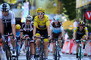 Geraint Thomas (GBR - Team Sky) Yellow jersey during the 105th Tour de France 2018, Stage 16, Carcassonne - Bagneres de Luchon (218 km) on July 24th, 2018 - Photo Kei Tsuji / BettiniPhoto / ProSportsImages / DPPI