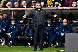 Fulham manager Slavisa Jokanovic gestures on the touchline during the Sky Bet Championship match at Carrow Road, Norwich.
