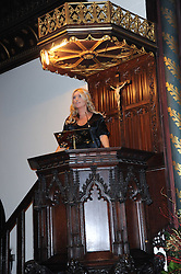 Actress TINA HOBLEY at a Christmas Carol service in aid of Breast Cancer Haven held at St.Paul's Knighsbridge, Wilton Place, London on 8th December 2009.