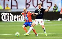 Fotball , 4. juli 2016 , EIiteserien , Tippeligaen ,  Strømsgodset - Aalesund 4-2<br /> Thomas Sørum , SIF<br /> Fredrik Carlsen , Aalesund