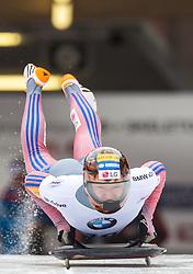 18.02.2016, Olympiaeisbahn Igls, Innsbruck, AUT, FIBT WM, Bob und Skeleton, Herren, Skeleton, 2. Lauf, im Bild Hansin Lee (KOR) // Hansin Lee of Republic of Korea competes during men's Skeleton 2nd run of FIBT Bobsleigh and Skeleton World Championships at the Olympiaeisbahn Igls in Innsbruck, Austria on 2016/02/18. EXPA Pictures © 2016, PhotoCredit: EXPA/ Johann Groder