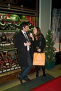 ANDREW ROGERS; LYDIA BROWN, Patsy Kensit turns on Burlington Arcade Christmas Lights, Burlington Arcade, London, W1. 26 November 2008 *** Local Caption *** -DO NOT ARCHIVE -Copyright Photograph by Dafydd Jones. 248 Clapham Rd. London SW9 0PZ. Tel 0207 820 0771. www.dafjones.com