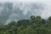 Misty mountains in the north Cherokee National Forest, Tennesssee.