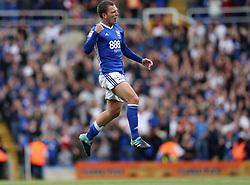 Birmingham City's Craig Gardner celebrates scoring against Bristol City