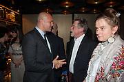 BILLY ZANE; JOHN HURT; SVETLANA K-LIE, Liberatum Cultural Honour  for John Hurt, CBE in association with artist Svetlana K-Lié.  Spice Market, W London - Leicester Square