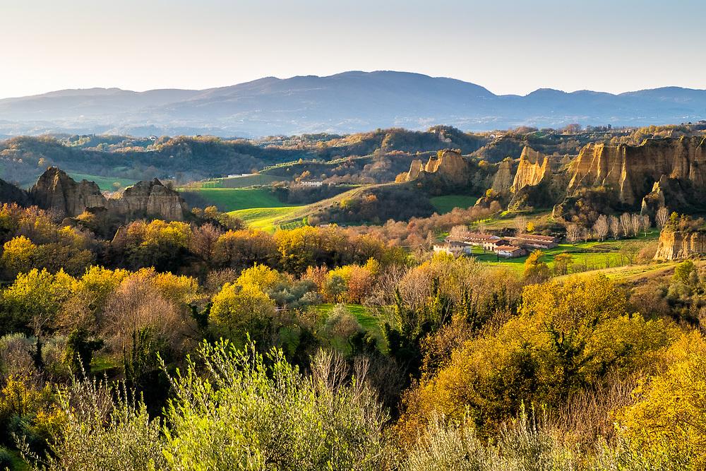 Landscape photography of Le balze del Valdarno in Tuscany