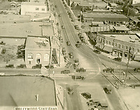 1927 Looking north up Highland Ave. from Santa Monica Blvd.