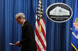 Special counsel Robert Mueller leaves the press conference after making a statement about the investigation into Russian interference in the 2016 election at the Justice Department on May 29, 2019 in Washington, DC. Photo by Olivier Douliery/ABACAPRESS.COM