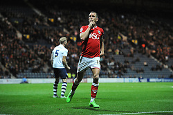 Aaron Wilbraham of Bristol City celebrates his goal to make it 1-1 - Mandatory byline: Dougie Allward/JMP - 07966386802 - 15/09/2015 - FOOTBALL - Deepdale Stadium -Preston,England - Bristol City v Preston North End - Sky Bet Championship