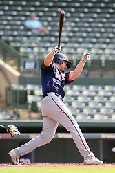 July 17, 2018 - Sarasota, FL, U.S. - Sarasota, FL - JUL 17: Gabe Snyder (7) of the Twins at bat during the Gulf Coast League (GCL) game between the GCL Twins and the GCL Orioles on July 17, 2018, at Ed Smith Stadium in Sarasota, FL. (Photo by Cliff Welch/Icon Sportswire) (Credit Image: © Cliff Welch/Icon SMI via ZUMA Press)