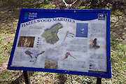Suffolk Wildlife Trust information board, Hazelwood Marshes, Aldeburgh, Suffolk