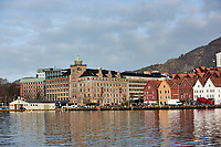 Historic Bergen from across the harbor. One of seven images taken with a Nikon 1 V2 camera and 10-30 mm lens(ISO 200, 30 mm, f/5.6, 1/1000 sec).
