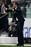 Massimiliano Allegri of Juventus reacts during the Serie A 2018/2019 football match between Juventus and Genoa CFC at Allianz Stadium, Turin, October, 20, 2018 <br />  Foto Andrea Staccioli / Insidefoto