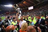 Celebrazione Coppa Juventus vince il trofeo, Celebration Cup Juventus Wins the trophy Leonardo Bonucci Juventus  <br /> Roma 17-05-2017 Stadio Olimpico.<br /> Football Calcio Finale Coppa Italia / Italy's Cup Final 2016/2017. Juventus - Lazio<br /> Foto Cesare Purini / Insidefoto